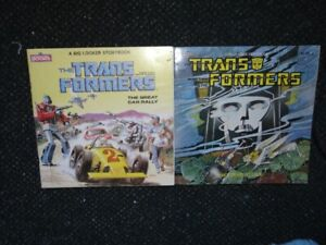 Vintage lot of two Transformers Books, Marvel Books, 1984