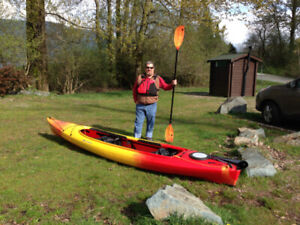 Two-person kayak, gear and roof rack in great condition for sale