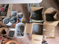 Assortment of nails spikes etc.