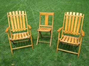 Solid Wood Antique Folding Chairs