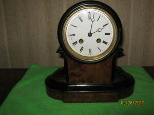 Mahogany Bell-Chime Mantle Clock from the 1800's