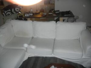 White on White Ikea Couch