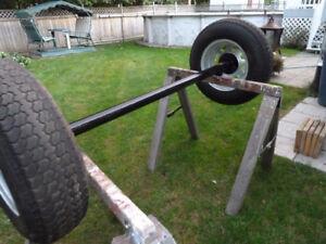 essieux complet avec jante gavaniser neuf et pneus usager
