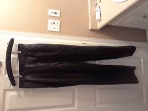 Womens leather dress pants