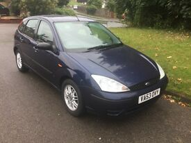 Ford Focus 2004 diesel 1.8 tdci 5 door long mot lots of service records px clearance