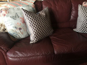 Genuine leather sofa and love seat $299 each OBO