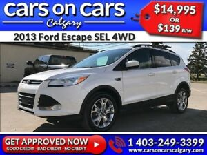 2013 Ford Escape SEL 4WD ECOBOOST w/Leather, BackUp Cam, Navi $1