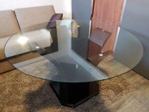 Table de cuisine ronde 7 morceaux