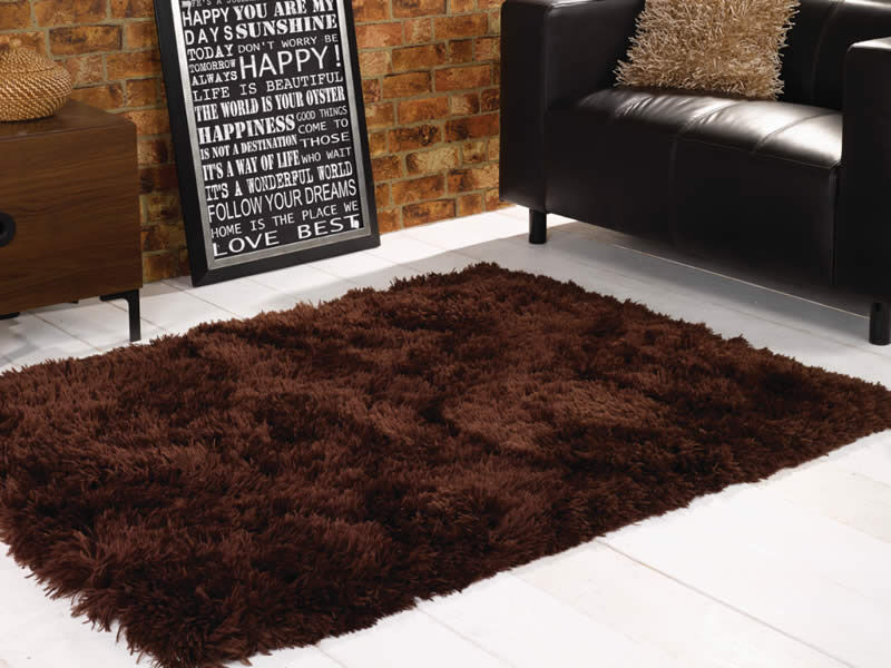 New Half Price Rugs 8cm Deep Pile Gy Plum Or Brown Bargain