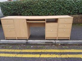 desk + 2 cupboards