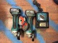 Cordless Makita angle grinders 4.0ah 3.0ah battery cutting grinder 18v