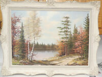 Canadian listed artist E.Jalava oil painting