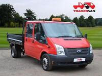 2012 FORD TRANSIT 2.2 TDCi T350 155ps Double Cab Tipper - NO VAT DIESEL MANUAL