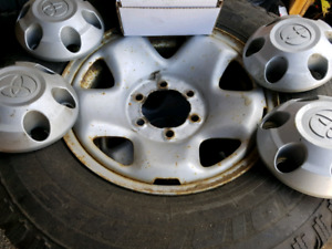 Two sets of tires and rim's for sale