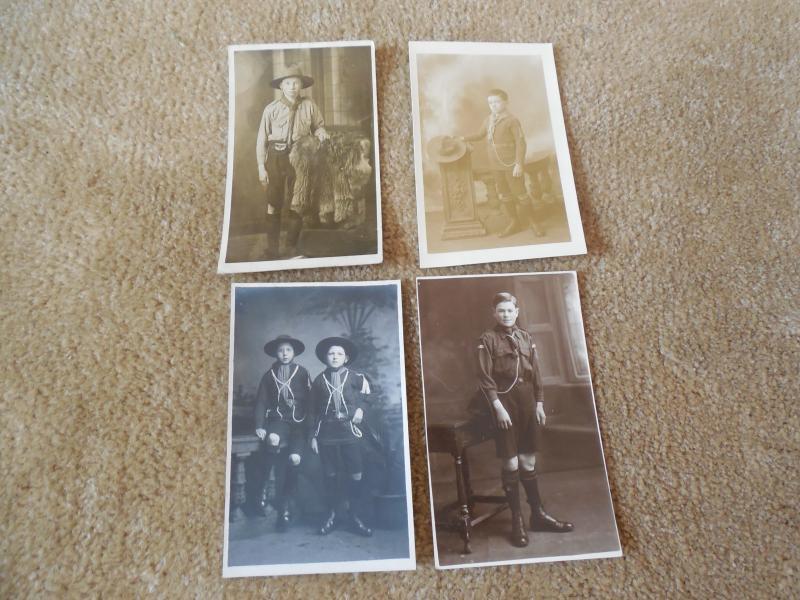 Lot 4 Vintage 1910s 29s Boy SCouts British England UK Photo RPPC Postcards #38