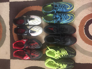 Boys outdoor and indoor soccer cleats
