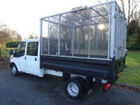 White Ford Transit Crew Cab Flat Bed Tipper ***FROM £299 PER MONTH***