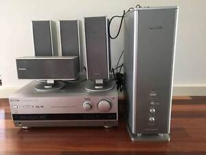 Panasonic  SA HE75 theatre amp / 3 speakers inc  ** Camden Park West Torrens Area Preview