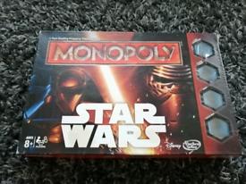 Star wars monopoly unused rare edition