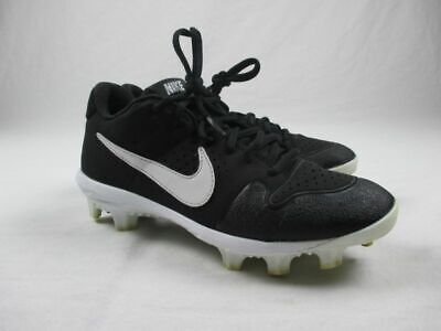 Nike Alpha Huarache Varsity Low - Black/White Cleats (Men's 6Y) - Used