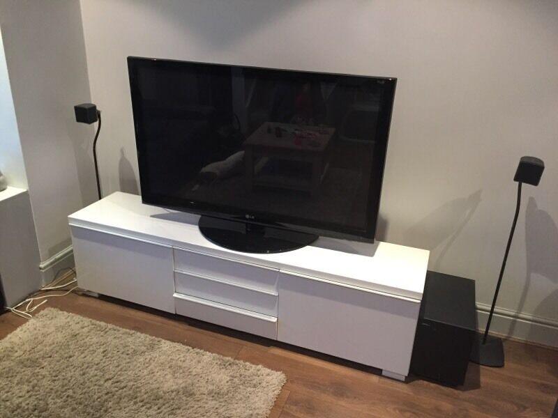 ikea besta burs tv unit white in twickenham london. Black Bedroom Furniture Sets. Home Design Ideas