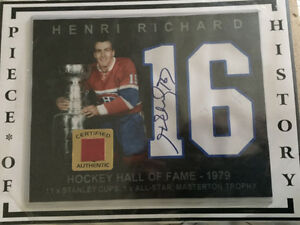 Henry Richard autograph with piece of history forum West Island Greater Montréal image 1