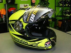 Scorpion High Viz - EXO-1100 helmet - XS & 2XL at RE-GEAR Kingston Kingston Area image 1
