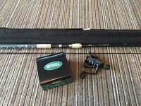 Brand new course fishing rod and reel