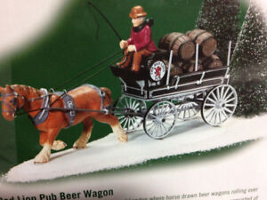 DEPARTMENT 56 - RED LION PUB BEER WAGON