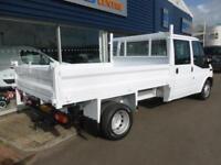 2014 Ford TRANSIT 350L D/CAB RWD 100ps TIPPER *6 SEATER* Manual Tipper