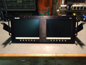 """Dual 7.9"""" Rack Mounted Full Color Active Matrix LCD Panel"""
