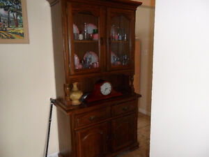 2 Piece Antique China Cabinet