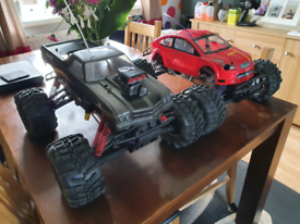 2 x HPI Savage nitro radio controlled cars