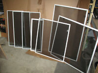 Window screens various sizes
