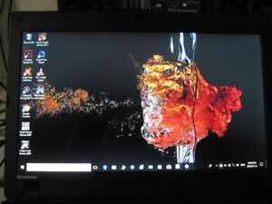Thinkpad LS410 laptop. Works and looks great. W10