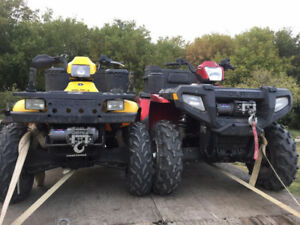 His and Hers Quads with trailer