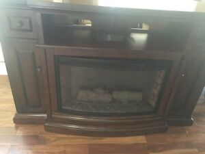 Beautiful electric fireplace/ tv stand