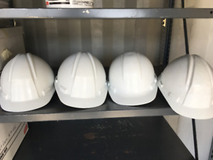 hart hats, white, never used