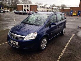 Vauxhall Zafira life, 7 seat Mpv