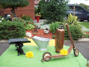 Many Antiques,Scooter, Scale, Coal Skuttle   + MORE