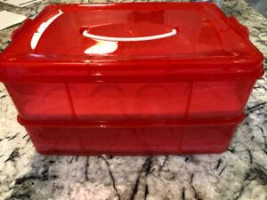 24 cupcakes holder/storage
