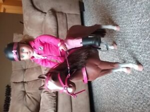 Horse and  girl rider doll
