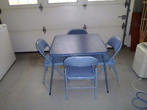 Card Table Four Chairs