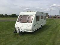 (55) COMPASS OMEGA 505, 5 BERTH, SINGLE AXLE, TOURING CARAVAN, REAR BEDROOM