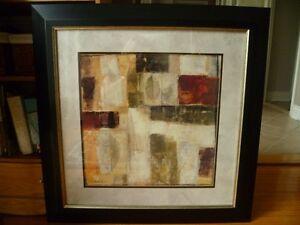 Dark wood and glass framed modern picture in perfect condition. West Island Greater Montréal image 1