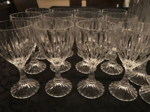 Set of 28 Mikasa Park Lane Crystal glasses - Great price!