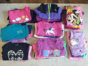 Large lot of girls 5T clothing all for $15 quick sale