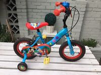Mickey Mouse Bike with Stabilisers and Helmet