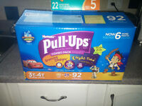 BRAND NEW  SUPERSIZE SIZE 3T-4T PULLUPS AND SIZE 5 SWIM DIAPERS