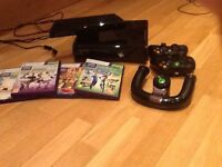 Xbox 360 console, Kinect, 3 controllers, 4 games